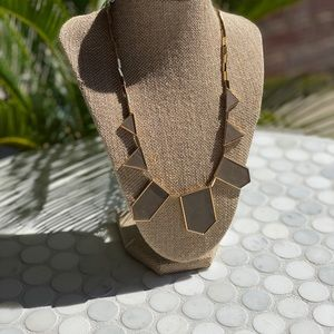House of Harlow Taupe Leather Necklace